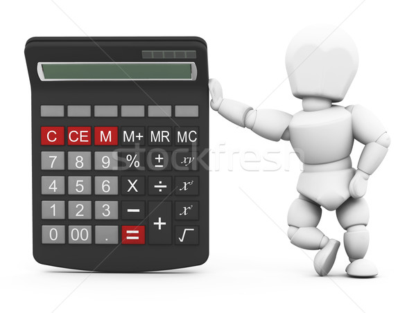 Person with a calculator Stock photo © kjpargeter