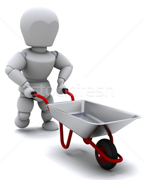 Gardener with a wheel barrow Stock photo © kjpargeter