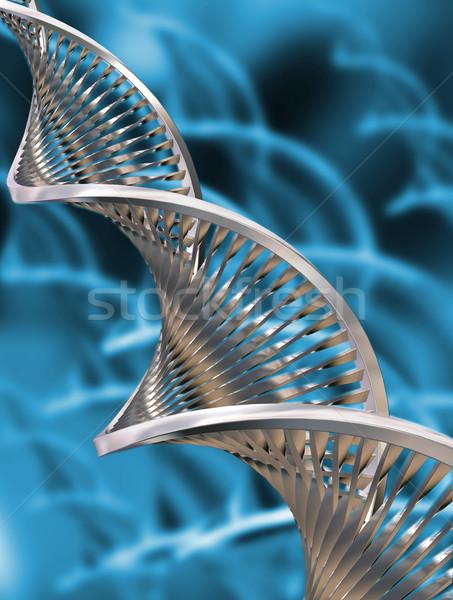 Dna abstract medische technologie geneeskunde wetenschap Stockfoto © kjpargeter
