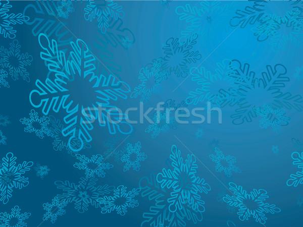 Stok fotoğraf: Kar · taneleri · kış · star · kutlama · kar · tanesi · vektör