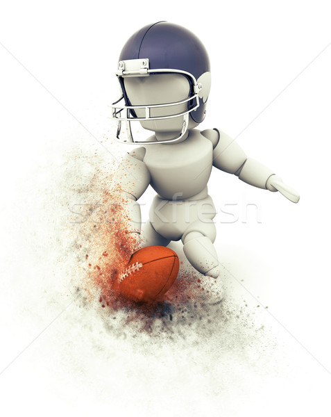 3D American football player touchdown Stock photo © kjpargeter