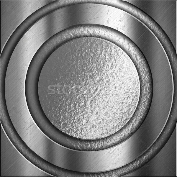 Gümüş Metal soyut kareler beton Stok fotoğraf © kjpargeter