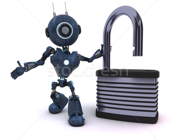 Android cadenas rendu 3d robot Photo stock © kjpargeter