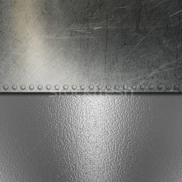Grunge brushed metal and chrome background Stock photo © kjpargeter