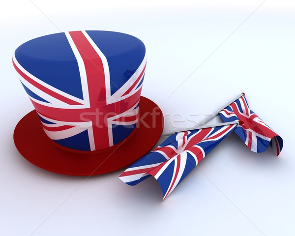 Union Jack Jubilee Hat and  Flag Stock photo © kjpargeter