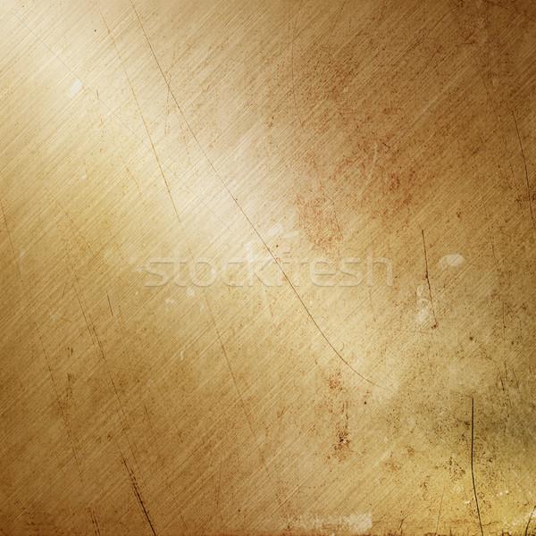 Grunge gold brushed metal Stock photo © kjpargeter