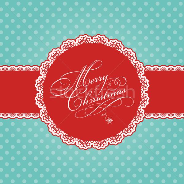 Christmas decoratief sneeuw vakantie Stockfoto © kjpargeter