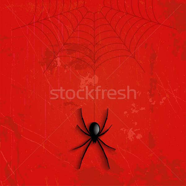 Grunge Halloween spider background Stock photo © kjpargeter