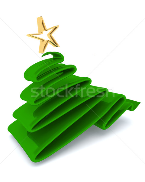 Scribble sketch Christmas tree concept Stock photo © kjpargeter