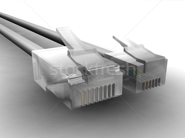 RJ45 and RJ11 cables Stock photo © kjpargeter