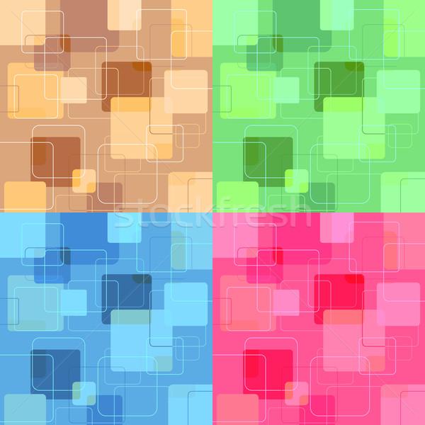Photo stock: Rétro · style · rétro · horizons · carré