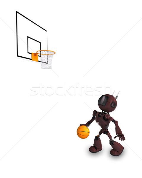 Android Basketball Player Stock photo © kjpargeter
