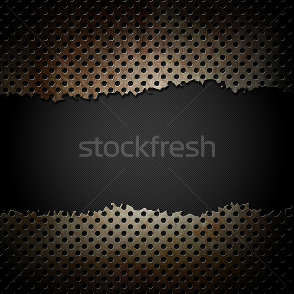 Grunge Metal madeni kazıyın gümüş Stok fotoğraf © kjpargeter