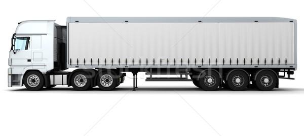 Carga entrega vehículo 3d camión viaje Foto stock © kjpargeter