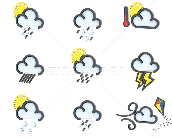 Stock photo: weather icon set no 2