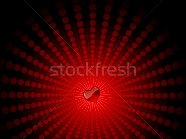 heart on starburst  Stock photo © kjpargeter