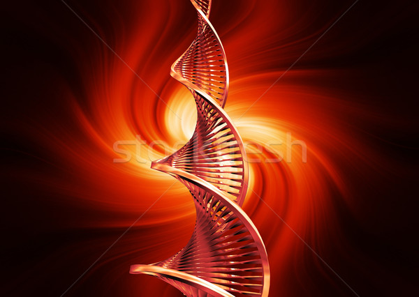 DNA soyut 3d render tıbbi teknoloji tıp Stok fotoğraf © kjpargeter