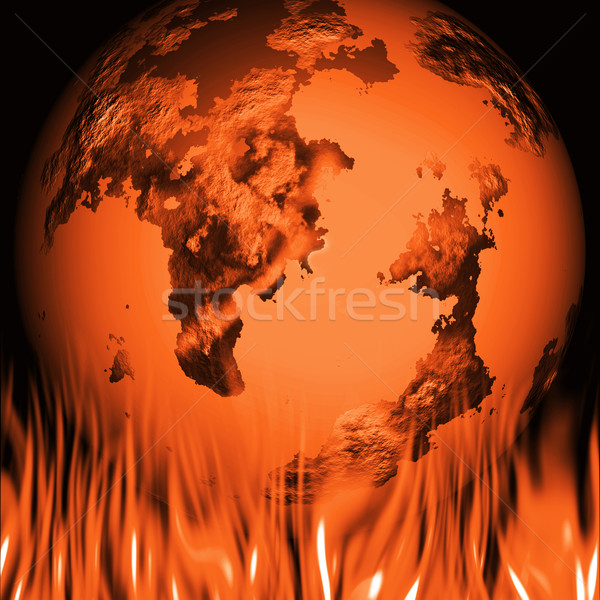 Global warming Stock photo © kjpargeter