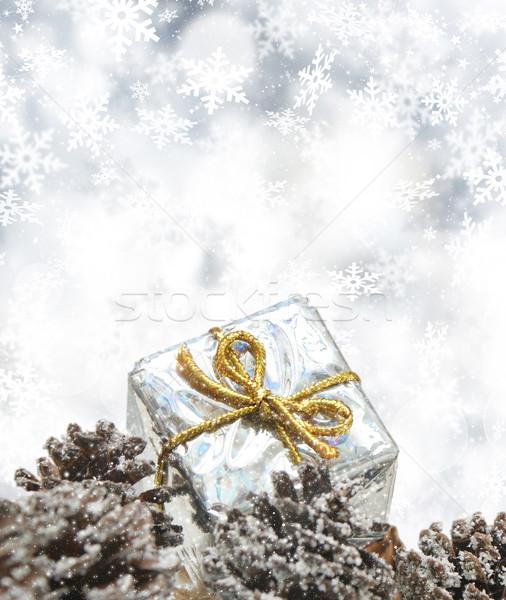 Christmas gift background Stock photo © kjpargeter