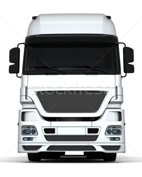 Stock fotó: Teher · házhozszállítás · jármű · 3d · render · teherautó · utazás