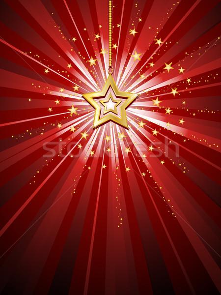 Golden star Stock photo © kjpargeter