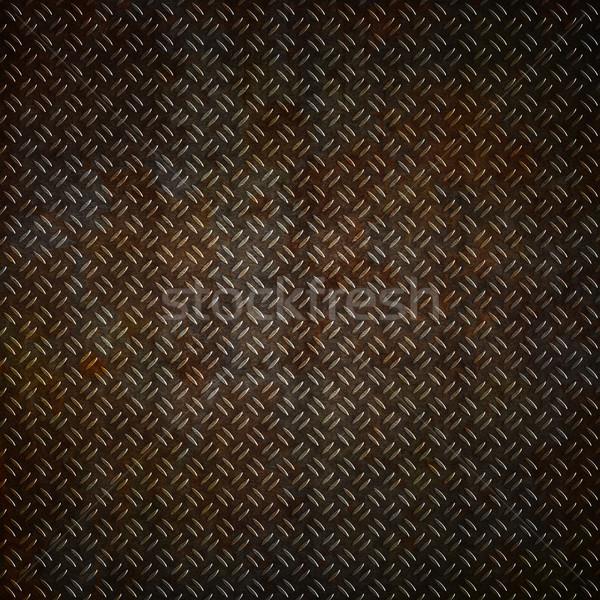 Rusty metal placa grunge óxido efecto Foto stock © kjpargeter