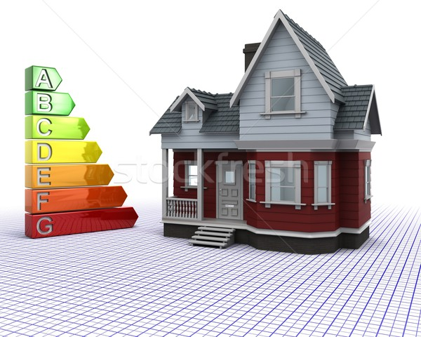 Classic Timber House with Energy ratings Stock photo © kjpargeter
