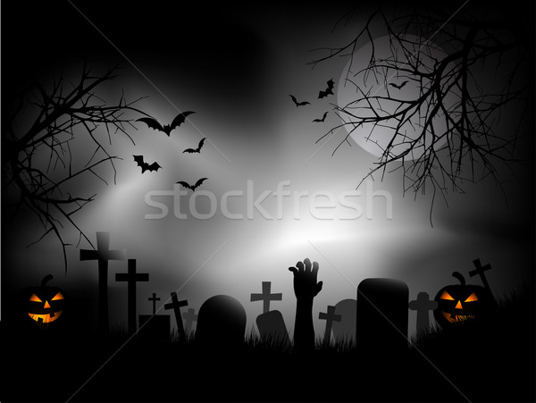 Spooky graveyard Stock photo © kjpargeter