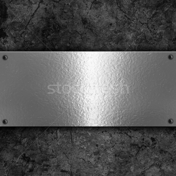Grunge background with metal plate Stock photo © kjpargeter