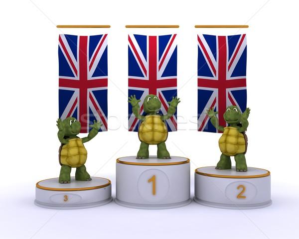 tortoises on championship a podium Stock photo © kjpargeter