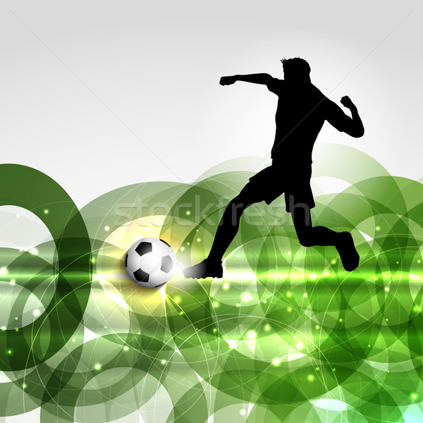 Football or soccer player background Stock photo © kjpargeter