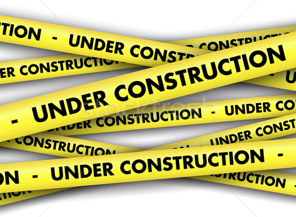 Under construction tape background Stock photo © kjpargeter