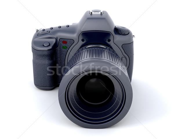 3D fotocamera digitale isolato bianco sfondo fotografia Foto d'archivio © kjpargeter
