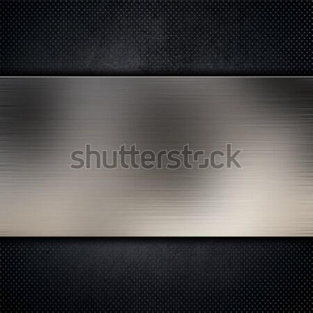 Metal carbono fibra brillante placas Foto stock © kjpargeter