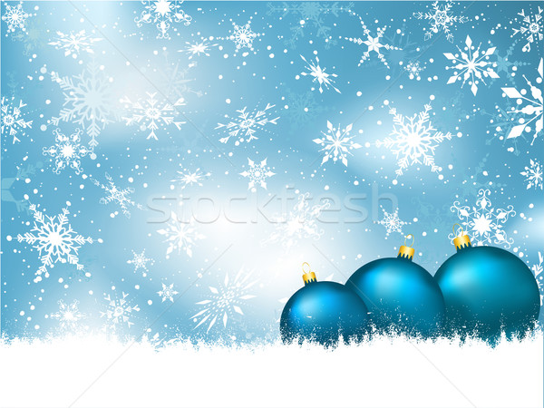Christmas bauble background Stock photo © kjpargeter