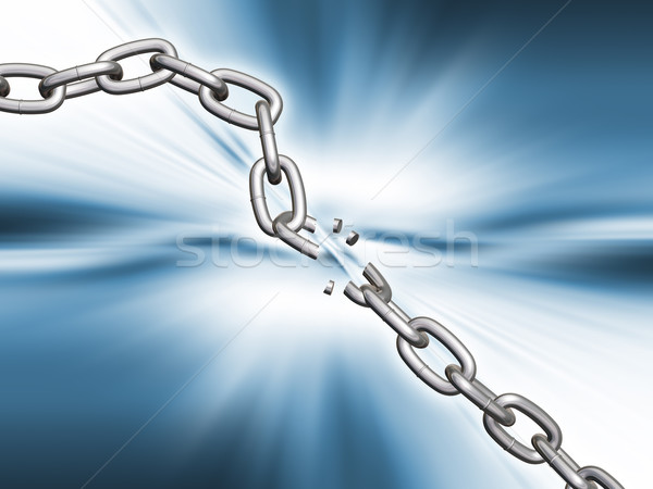Breaking chains Stock photo © kjpargeter