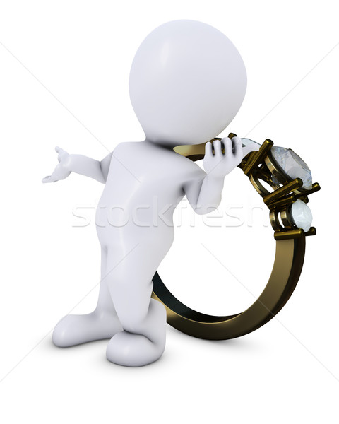 Morph man with ring Stock photo © kjpargeter