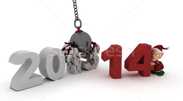 2014 new year wrecking ball Stock photo © kjpargeter