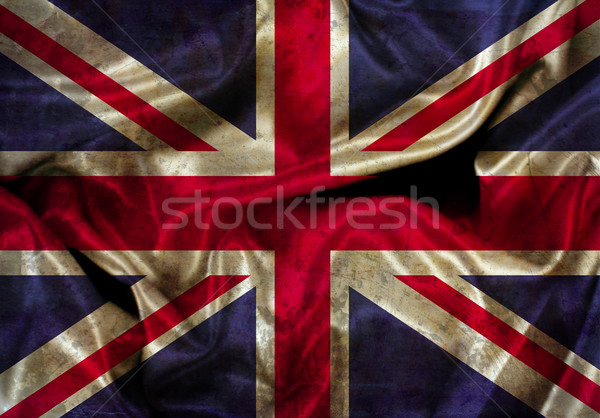Grunge Union Jack flag Stock photo © kjpargeter