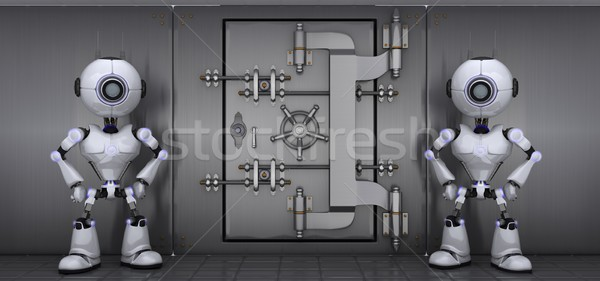 Robots guarding a vault Stock photo © kjpargeter