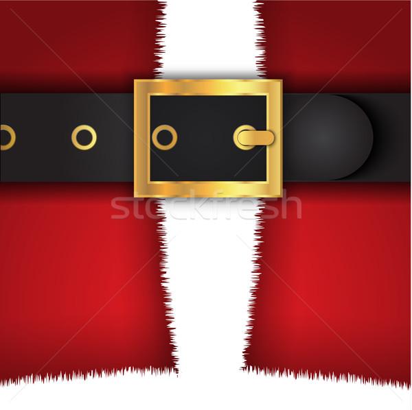 Santas coat background Stock photo © kjpargeter