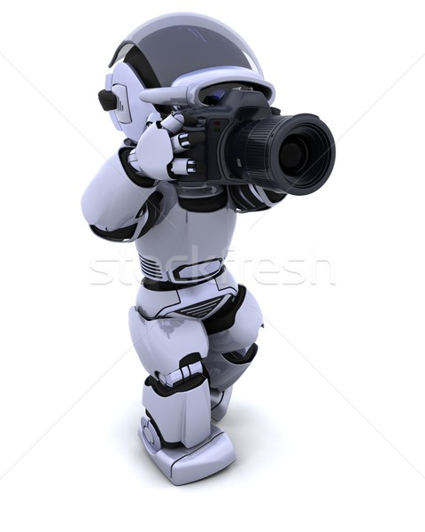 Robot dslr camera 3d render digitale video Stockfoto © kjpargeter