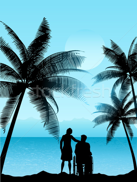 couple in a tropical landscape  Stock photo © kjpargeter