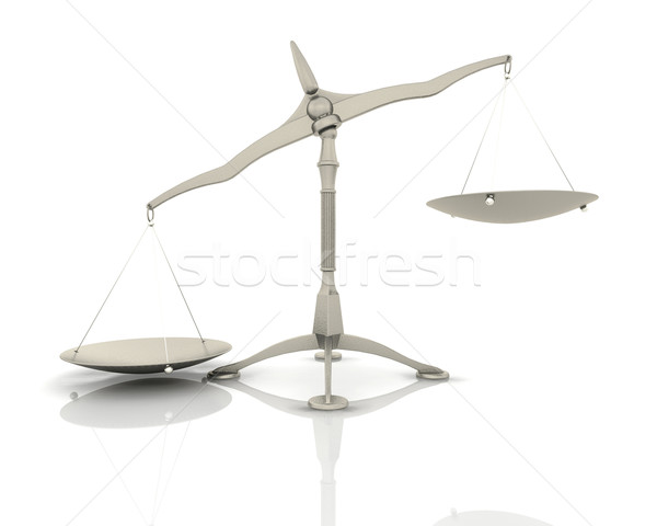 3d render of scales  Stock photo © kjpargeter