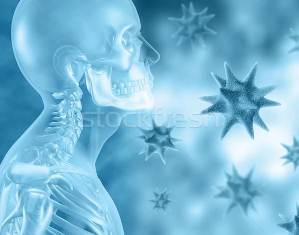 3D 医療 スケルトン ウイルス 男性 健康 ストックフォト © kjpargeter