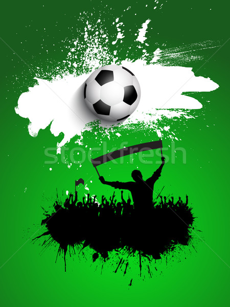 Grunge football / soccer crowd background Stock photo © kjpargeter