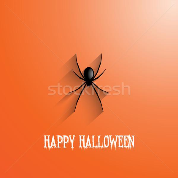 Halloween pająk wiszący wakacje scary Zdjęcia stock © kjpargeter