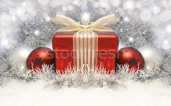 Christmas gift background Stock photo © kjpargeter