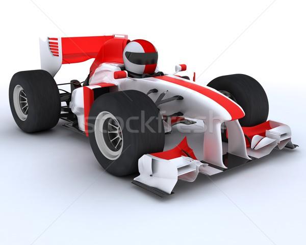 man with racing car Stock photo © kjpargeter