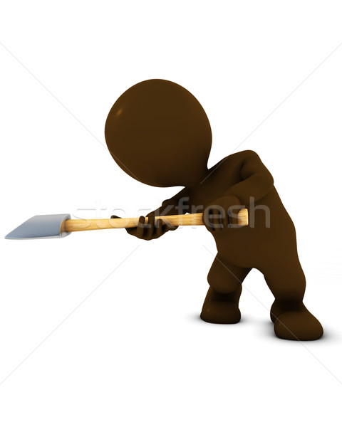 3D Morph Man swinging an axe Stock photo © kjpargeter